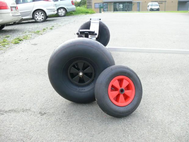 remorque mise a leau roue ballon grosse roue aluminium neuve P1340705