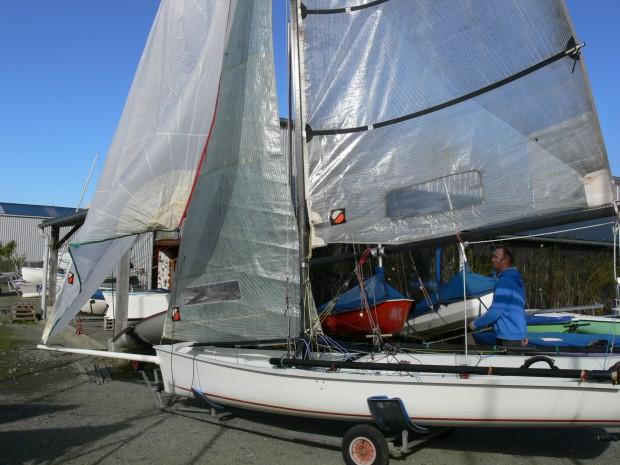 Boss double trapèze skiff occasion dériveur services (1)